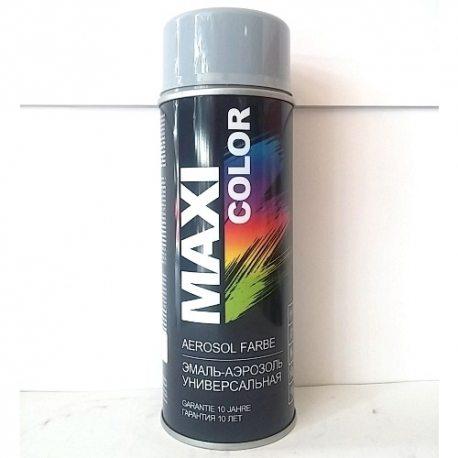 MAXI COLOR Емаль аерозольна універсальна декоративна, сіра, 400мл (MX7001)