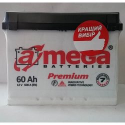 Акумулятор A MEGA BATTERIES Premium 6СТ-60-АЗ (0)