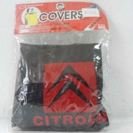 Накидка на підголовник з текстильного матеріалу CITROEN (чорний)