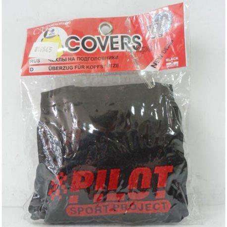 Накидка на підголовник з текстильного матеріалу PILOT (чорний)
