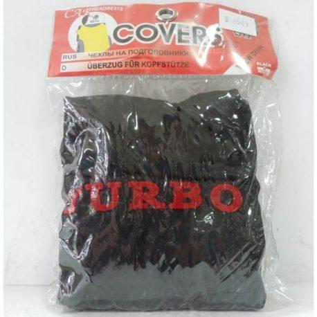 Накидка на підголовник з текстильного матеріалу TURBO (чорний)