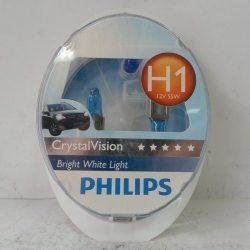 Лампа PHILIPS 12258CV SET CRISTALVISION 2xH1+2xW5W, 2шт.