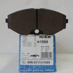 Icer Колодки тормозные дисковые IC181569 (Nissan Maxima A33)