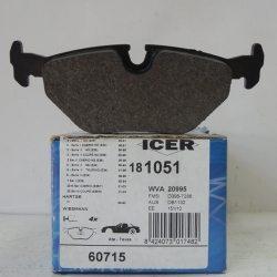 Icer Колодки тормозные дисковые IC181051 (BMW)