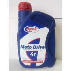 Агринол Масло моторное Moto Drive 4T Semisynt 10W-40 SJ/SG, 1л