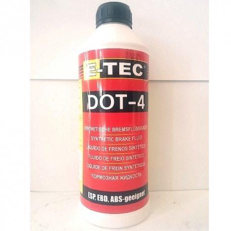 E-TEC Жидкость тормозная ДОТ-4, кан. п/э, 1,080кг