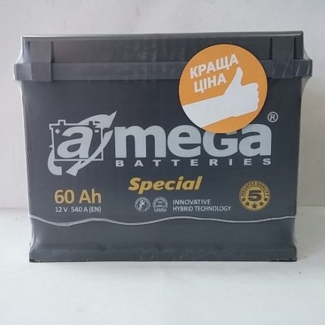 Аккумулятор A MEGA BATTERIES Special 6СТ-60-АЗ (0)