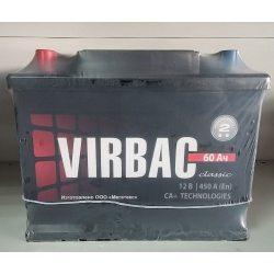 A MEGA Акумулятор VIRBAC CLASSIC 6СТ-60-А3 (0)