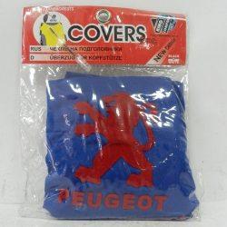 Накидка на подголовник из текстильного материала PEUGEOT (синяя)