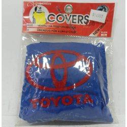 Накидка на підголовник з текстильного матеріалу TOYOTA (синій)