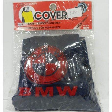 Накидка на подголовник из текстильного материала BMW (т-синяя)