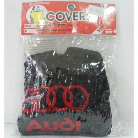 Накидка на підголовник з текстильного матеріалу AUDI (чорний)