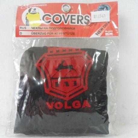 Накидка на підголовник з текстильного матеріалу VOLGA (чорний)