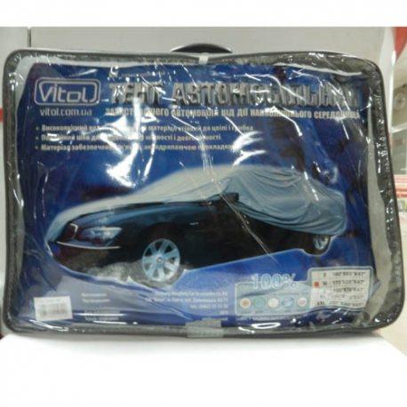 Vitol Тент для автомобиля CC13401-M серый с подкладкой