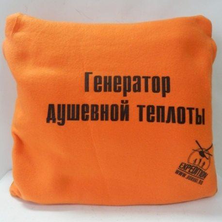 Автомобильный плед-подушка оранж. Экспедиция ESAA-001
