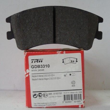 Колодки тормозные TRW передние GDB 3310 (Mazda 6)