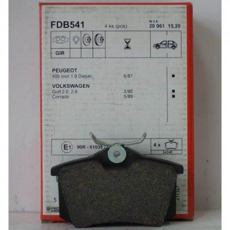 Ferodo Колодки тормозные дисковые FDB 541 (VAG)