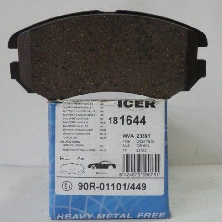 Icer Колодки тормозные дисковые IC181644 (Kia, Hyundai)