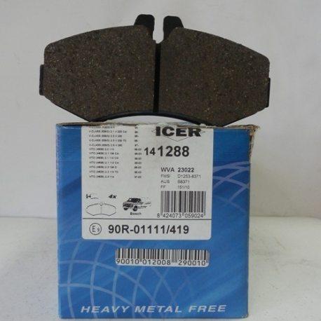 Icer Колодки тормозные дисковые IC141241 (MB Vito 638)