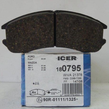 Icer Колодки гальмівні дискові IC180795 (Mazda 626)