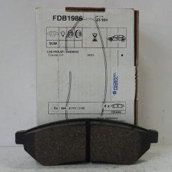Ferodo Колодки тормозные дисковые FDB1986 (Chevrolet Epica)