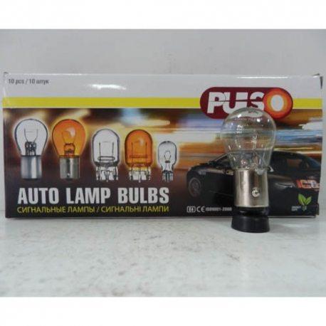 PULSO Лампа габаритная S25/BAY15d/P21/5W 12v 21/5w clear/2 конт.