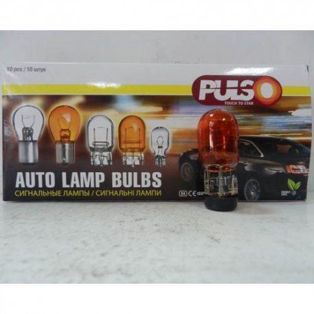 PULSO Лампа габаритная T20/W3x16d/WY21W 12V/21W amber/1 конт.