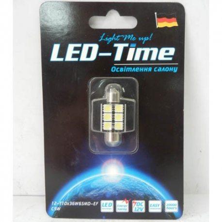 Лампа LED Освітлення салону, підсвітка номерного знака T10x36 6
