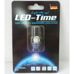 Лампа LED Габаритні вогні T10-5SMD (біла, помаранч, синя)