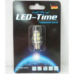 Лампа LED Габаритные огни BA9S-9SMD (белая)
