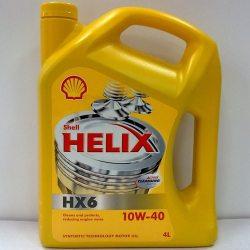 Shell олива моторна мінеральна Helix HX6(Super)10W-40, 4л