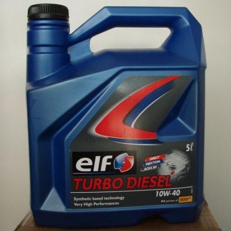 ELF Масло моторное Turbo Diesel 10W40, 5л