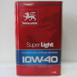 Олива моторна Wolver Super Light 10W-40, API SL/CF, 4л