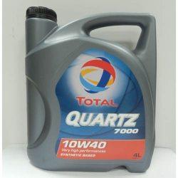 TOTAL Масло моторное полусинтетическое QUARTZ 7000 10W-40, 4л