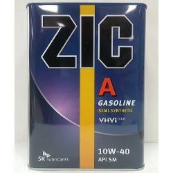 ZIC Масло моторное полусинтетическое A/X5 SAE 10W-40, 4л