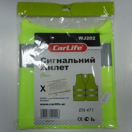 CarLife Сигнальный жилет, зеленый,XL,130gr|m2