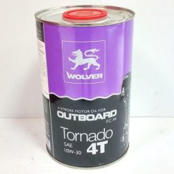 WOLVER Масло моторное Tornado 4T Outboard SAE 10W-30, 1л