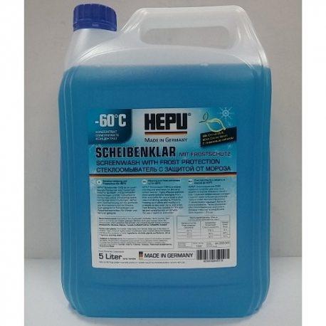 """HEPU Жидкость стеклоомывателя """"Screenwash -60°C"""" SK-C60-005, 5л"""
